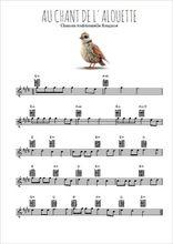 Téléchargez la partition pour saxophone en Mib de la musique au-chant-de-l-alouette en PDF