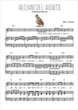 Téléchargez la partition de Au chant de l'alouette en PDF pour Chant et piano