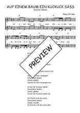Téléchargez l'arrangement de la partition de Traditionnel-Auf-einem-Baum-ein-Kuckuck-sass en PDF à deux voix
