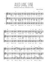 Téléchargez l'arrangement de la partition de Traditionnel-Auld-Lang-Syne en PDF à trois voix