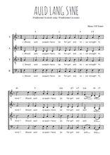 Téléchargez l'arrangement de la partition de Traditionnel-Auld-Lang-Syne en PDF à quatre voix