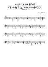 Téléchargez la partition Traditionnel-Auld-Lang-Syne pour guitare classique