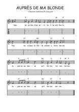 Téléchargez la tablature de la musique Traditionnel-Aupres-de-ma-blonde en PDF
