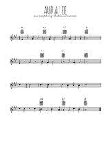 Téléchargez la partition en Sib de la musique usa-aura-lee en PDF