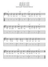 Téléchargez la tablature de la musique usa-aura-lee en PDF