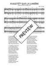 Téléchargez l'arrangement de la partition de Traditionnel-Aussitot-que-la-lumiere en PDF à deux voix