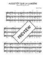 Téléchargez l'arrangement de la partition de Traditionnel-Aussitot-que-la-lumiere en PDF à trois voix