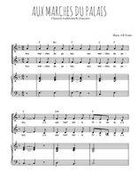 Téléchargez la partition de Aux marches du palais en PDF pour 2 voix égales et piano