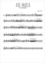 Téléchargez la partition pour saxophone en Mib de la musique franz-schubert-ave-maria-version-complete en PDF