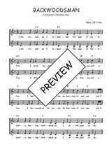 Téléchargez l'arrangement de la partition de Traditionnel-Backwoodsman en PDF à deux voix