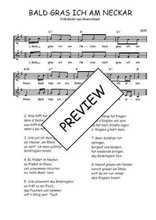 Téléchargez l'arrangement de la partition de Traditionnel-Bald-gras-ich-am-Neckar en PDF à deux voix