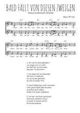 Téléchargez l'arrangement de la partition de Traditionnel-Bald-fallt-von-diesen-Zweigen en PDF à deux voix