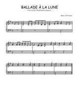 Téléchargez l'arrangement pour piano de la partition de Traditionnel-Ballade-a-la-lune en PDF