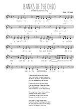 Téléchargez l'arrangement de la partition de Traditionnel-Banks-of-the-Ohio en PDF à deux voix