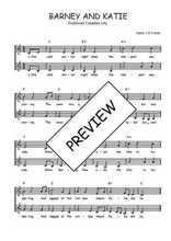 Téléchargez l'arrangement de la partition de Traditionnel-Barney-and-Katie en PDF à deux voix
