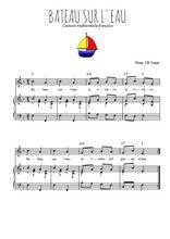 Téléchargez la partition de Bateau sur l'eau en PDF pour Chant et piano