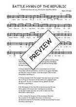 Téléchargez l'arrangement de la partition de Traditionnel-Battle-hymn-of-the-republic en PDF à deux voix