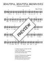 Téléchargez l'arrangement de la partition de Traditionnel-Beautiful-beautiful-brown-eyes en PDF à deux voix