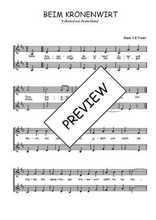 Téléchargez l'arrangement de la partition de Traditionnel-Beim-Kronenwirt en PDF à deux voix