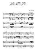 Téléchargez l'arrangement de la partition de Traditionnel-Die-brabanconne en PDF à deux voix