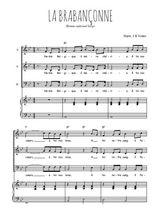 Téléchargez la partition de La brabançonne en PDF pour 3 voix SAB et piano