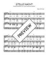 Téléchargez la partition de Stille nacht BE en PDF pour 2 voix égales et piano