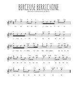 Téléchargez la partition pour saxophone en Mib de la musique berry-berceuse-berrichonne en PDF
