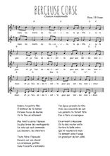 Téléchargez l'arrangement de la partition de berceuse-corse en PDF à deux voix