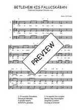 Téléchargez l'arrangement de la partition de Traditionnel-Betlehem-kis-falucskaban en PDF à trois voix