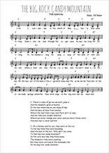 Téléchargez l'arrangement de la partition de Traditionnel-Big-Rock-Candy-mountain en PDF à deux voix