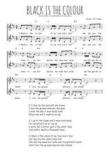Téléchargez l'arrangement de la partition de Traditionnel-Black-is-the-colour en PDF à deux voix