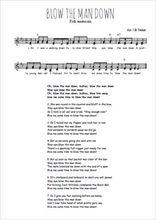 Téléchargez l'arrangement de la partition de Traditionnel-Blow-the-man-down en PDF à deux voix