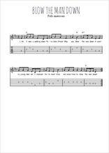 Téléchargez la tablature de la musique Traditionnel-Blow-the-man-down en PDF