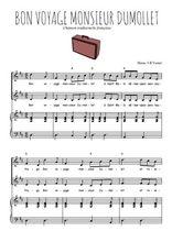Téléchargez la partition de Bon voyage Monsieur Dumollet en PDF pour 2 voix égales et piano