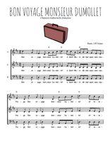 Téléchargez l'arrangement de la partition de comptine-bon-voyage-monsieur-dumollet en PDF à trois voix