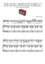 Téléchargez la partition de Bon voyage Monsieur Dumollet en PDF pour Chant et piano
