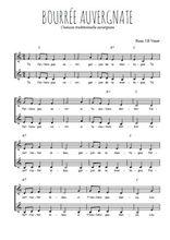 Téléchargez l'arrangement de la partition de danse-bourree-auvergnate en PDF à deux voix