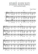Téléchargez l'arrangement de la partition de danse-bourree-auvergnate en PDF à trois voix