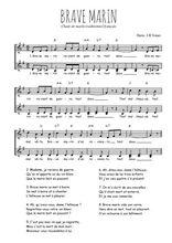 Téléchargez l'arrangement de la partition de Traditionnel-Brave-marin en PDF à deux voix