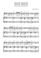 Téléchargez la partition de Brave marin en PDF pour Chant et piano