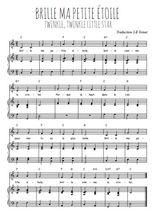 Téléchargez la partition de Brille ma petite étoile en PDF pour Chant et piano