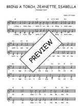 Téléchargez l'arrangement de la partition de Traditionnel-Bring-a-torch-Jeanette-Isabella en PDF à deux voix
