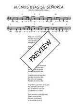 Téléchargez l'arrangement de la partition de Traditionnel-Buenos-dias-su-senoria en PDF à deux voix