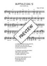 Téléchargez l'arrangement de la partition de Traditionnel-Buffalo-gals en PDF à deux voix