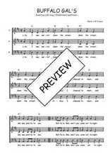 Téléchargez l'arrangement de la partition de Traditionnel-Buffalo-gals en PDF à trois voix