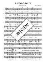 Téléchargez l'arrangement de la partition de Traditionnel-Buffalo-gals en PDF à quatre voix
