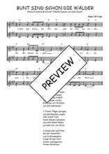Téléchargez l'arrangement de la partition de Traditionnel-Bunt-sind-schon-die-Walder en PDF à deux voix