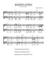 Téléchargez l'arrangement de la partition de Traditionnel-Burden-down en PDF à deux voix