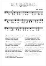 Téléchargez l'arrangement de la partition de Traditionnel-Bury-me-not-on-the-lone-prairie en PDF à deux voix