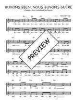 Téléchargez l'arrangement de la partition de Traditionnel-Buvons-bien-nous-buvons-guere en PDF à deux voix